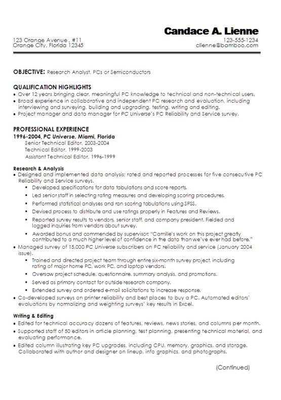 Example Of Technical Writer Resume - http://exampleresumecv.org ...