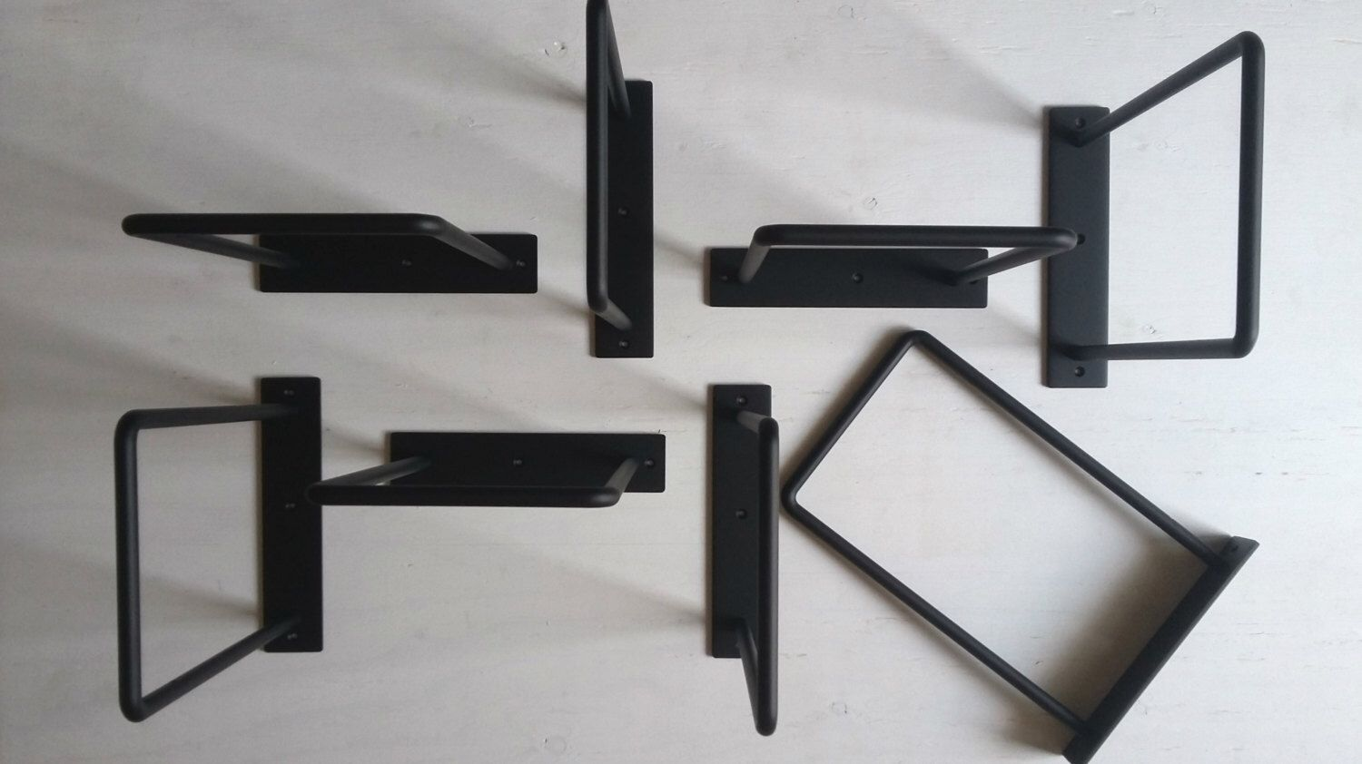 minimalist shelf brackets big version pair querres tablette minimaliste gros format paire