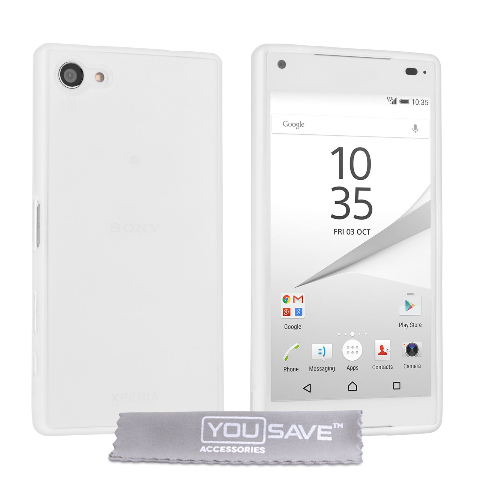 Yousave accessories sony xperia z5 compact 06mm ultra thin clear yousave accessories sony xperia z5 compact 06mm ultra thin clear gel case mobile ccuart Gallery