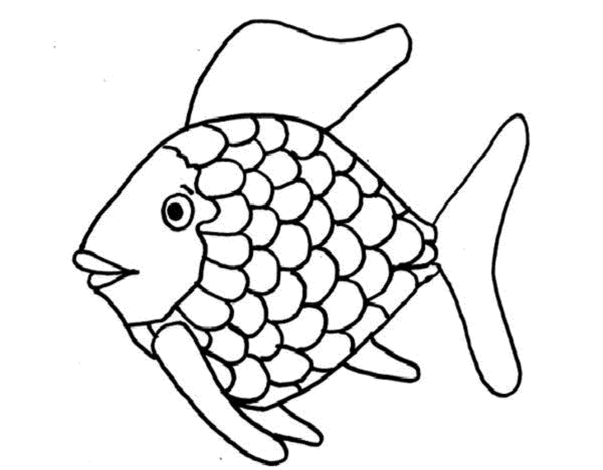 Ultimate Rainbow Fish Coloring Pages Preschoolers Page Pdf Color
