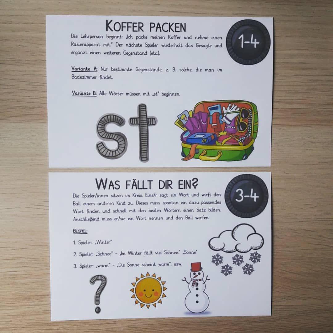 Pin Von Steffi Lu Auf Schule Deutsch In 2020 Spiele Grundschule Grundschullehrer Grundschule