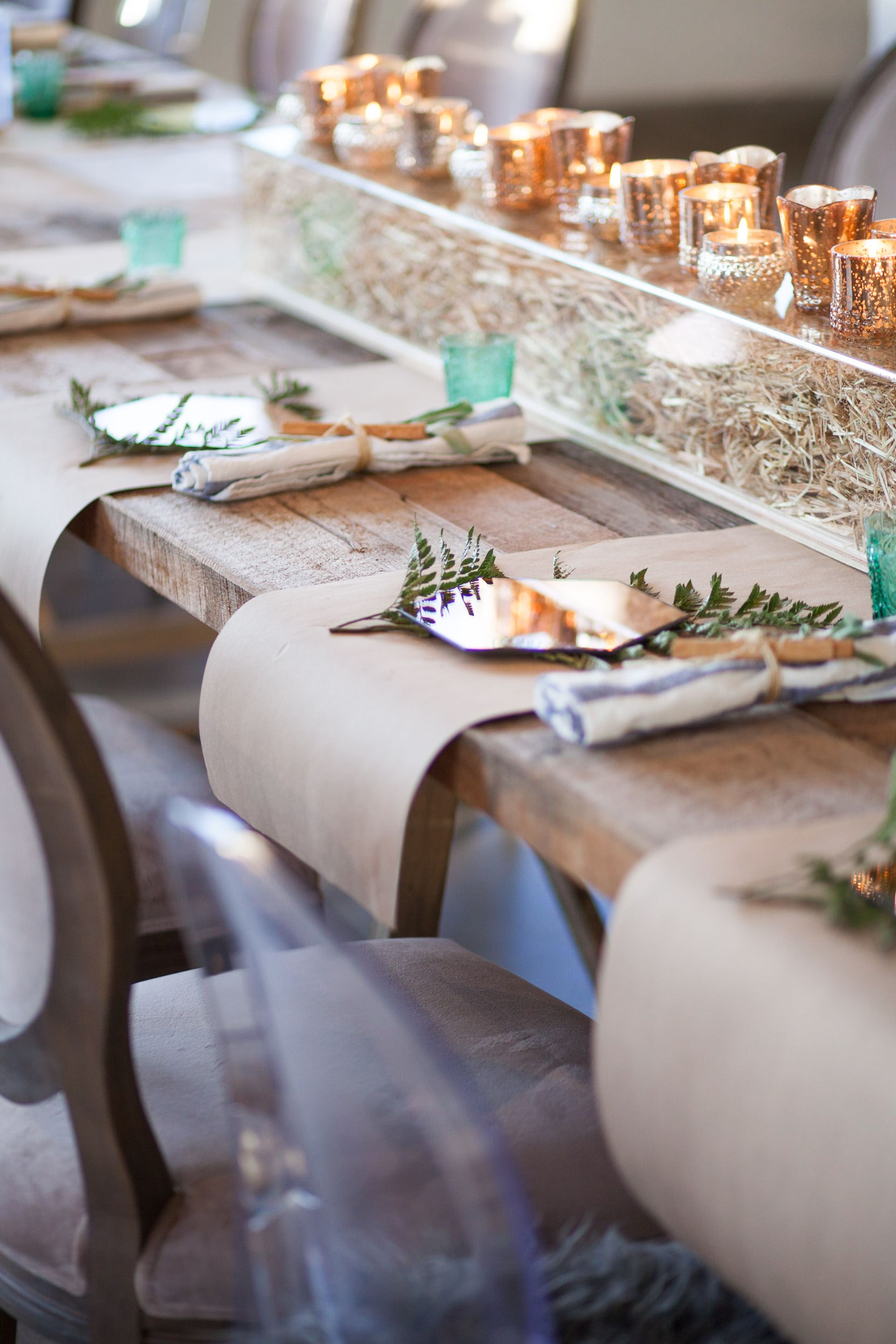 Private Event Featuring Butcher Paper Placemats Event