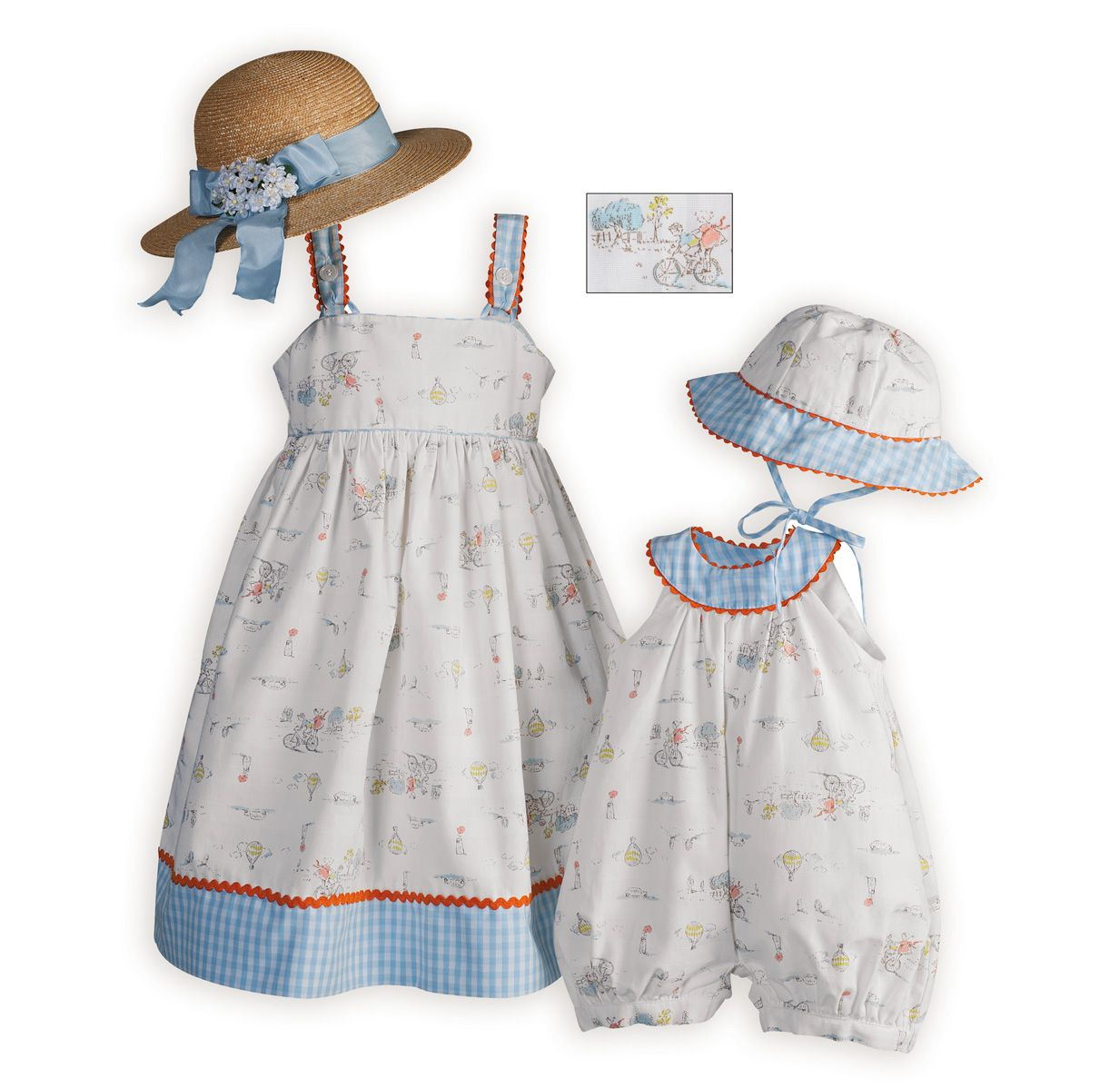 Sister Little Matching Outfits Home Spring Casual Wear Countryside Ride
