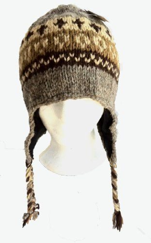 a2ebb8da015bc Nepal Hand Knit Sherpa Hat with Ear Flaps