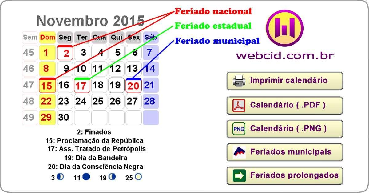Calendario 2018 De Brasil Para Imprimir Com Feriados Fases Da Lua