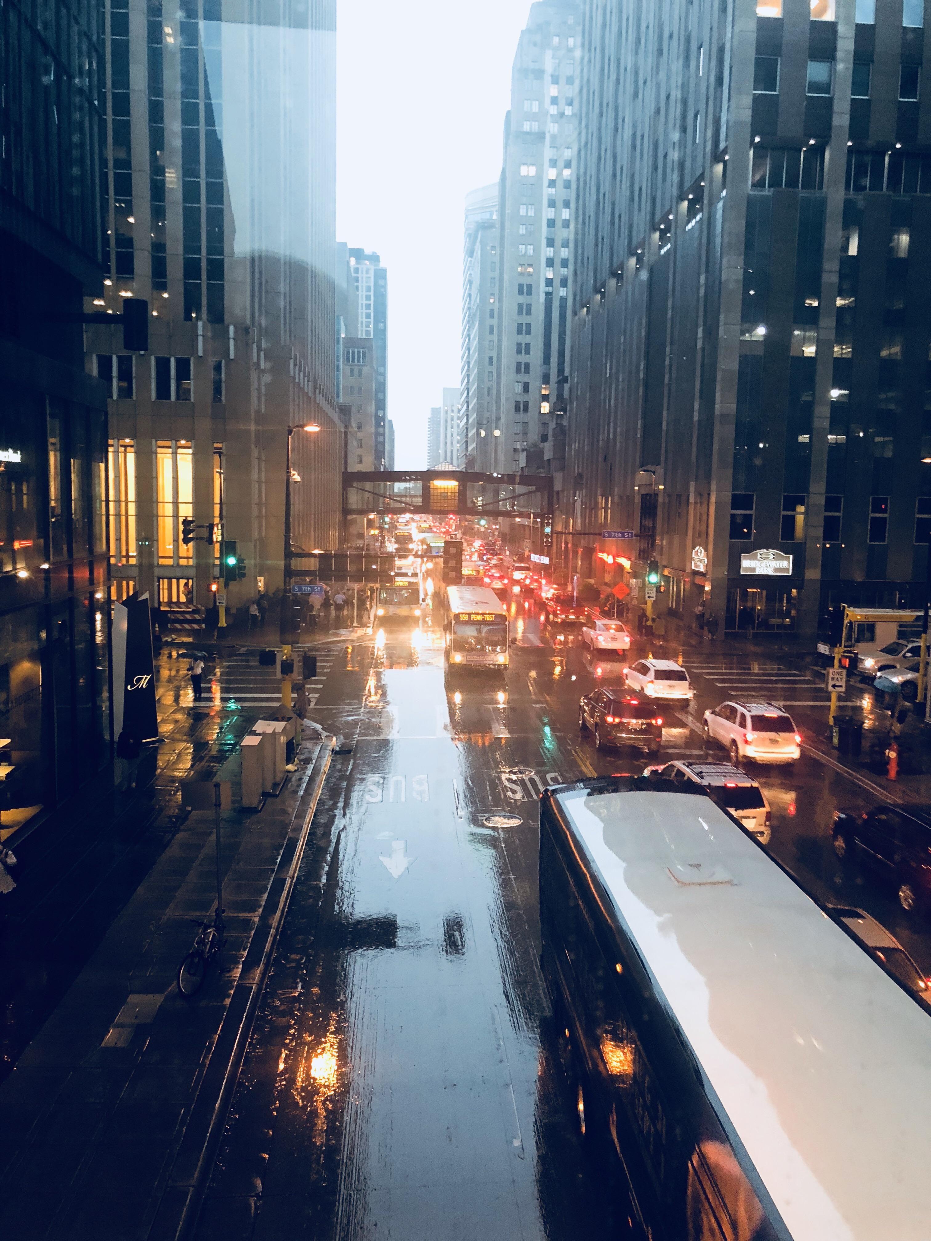 Gorgeous Rainy Evening In Minneapolis Minnesota Minneapolis