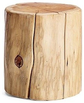 Superb Natural Tree Stump Side Table   Eclectic   Side Tables And Accent Tables