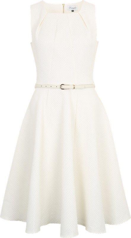 Closet London Sommerkleid mit Gürtel in weiß | ABOUT YOU ...