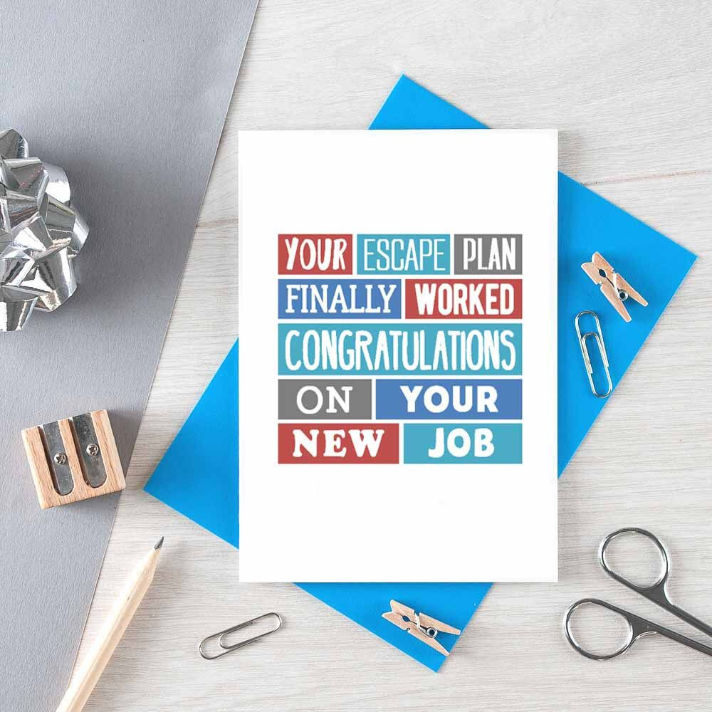 moving funny leaving card new job colleague escape plan retirement goodbye