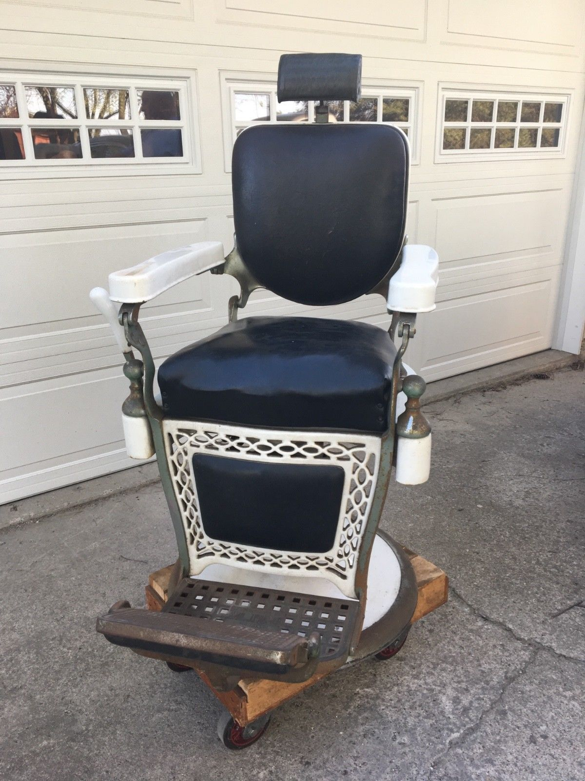 Emil J Paidar Antique Barber Chair Made In Chicago Authentic Original S R Barber Chair Vintage Barber Chair Barber