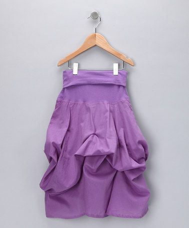 Look what I found on #zulily! Purple Convertible Ruffle Skirt - Girls #zulilyfinds