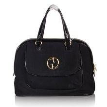 58a4c2e1b4c Gucci Gucci 1973 Suede Large Top Handle Bag - Black