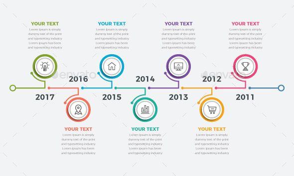 modern timeline infographics design infographic template