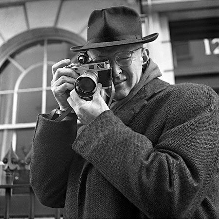 Henri Cartier-Bresson, self-portrait, 1957