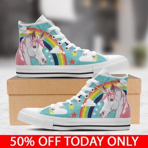 Unicorn - Women's White (With images)   Shoes, Unicorn ...