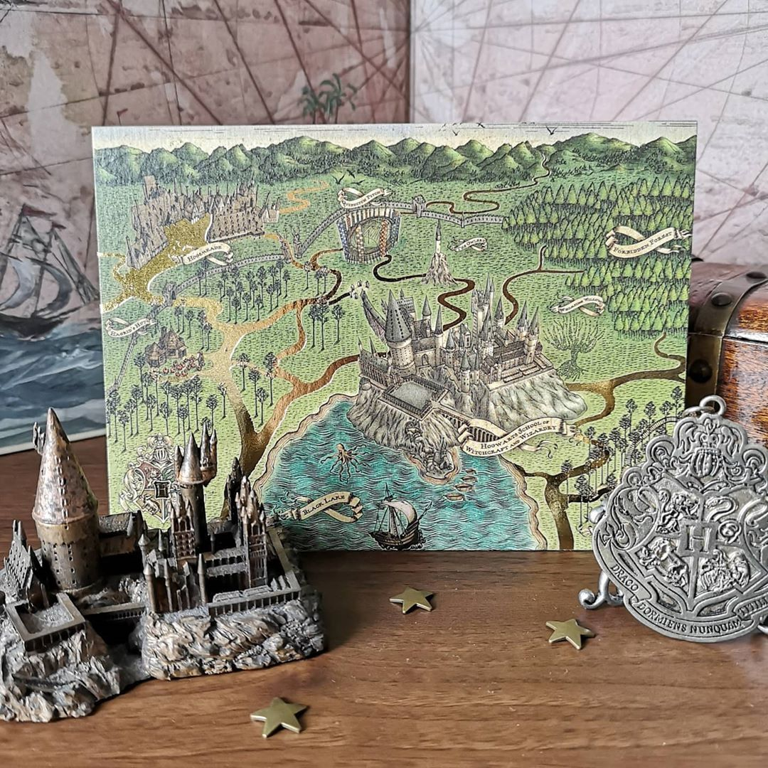 Rachel Wray On Instagram Minalimadesign Are Actual Wizards Just Look At How Stunning This Map Of Hogwarts That They Created Is I Ve Wanted The Actual Print I 2020