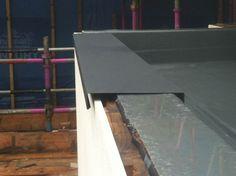 Metal Parapet Cap Google Search Wooden Cladding Exterior Roof Design Flat Roof Construction