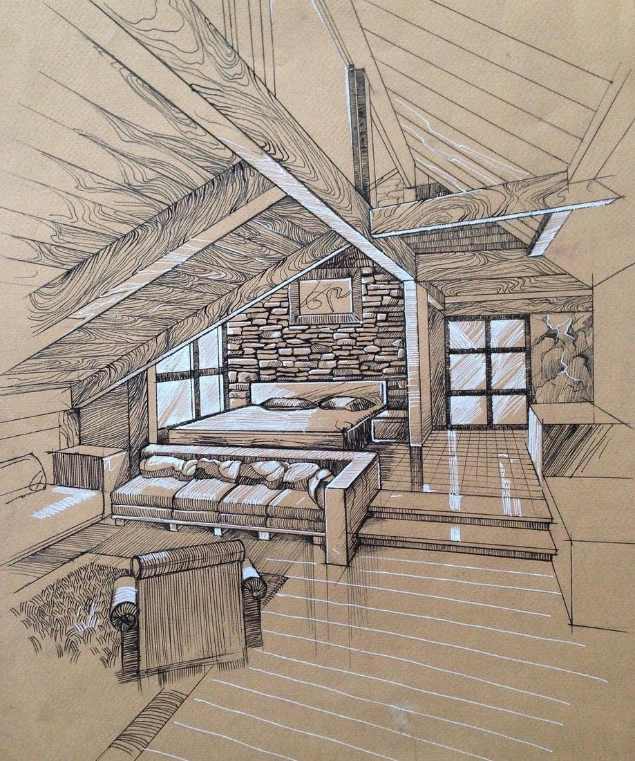 Interior Design Sketches a Source of Inspiration