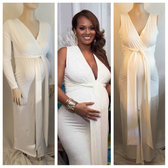 Weddings & Events Kim Kardashian White Jersey Celebrity Dress Kaftan White Elastic Cape Evening Gown For Pregnant Women Maternity Free Shipping 100% Original