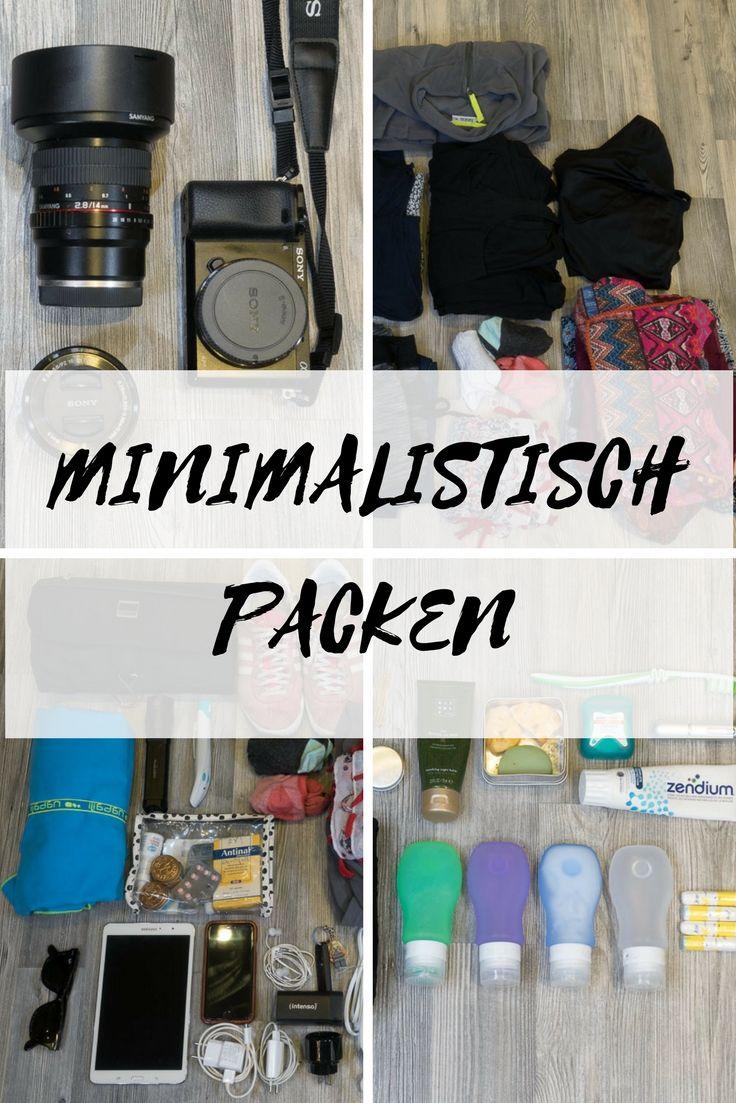 Minimalistische reisepackliste checkliste yummy travel for Minimalistisch werden