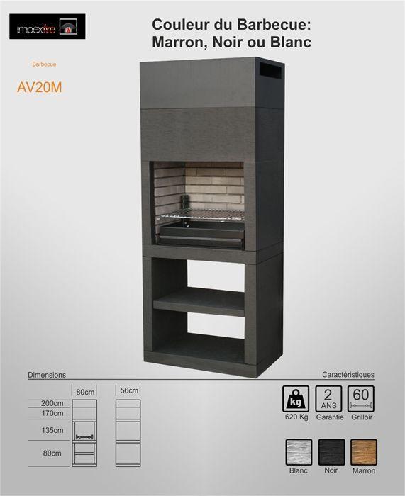 Barbecue Moderne exterieur AV20M faites votre choix en consultant - plan de travail pour barbecue exterieur