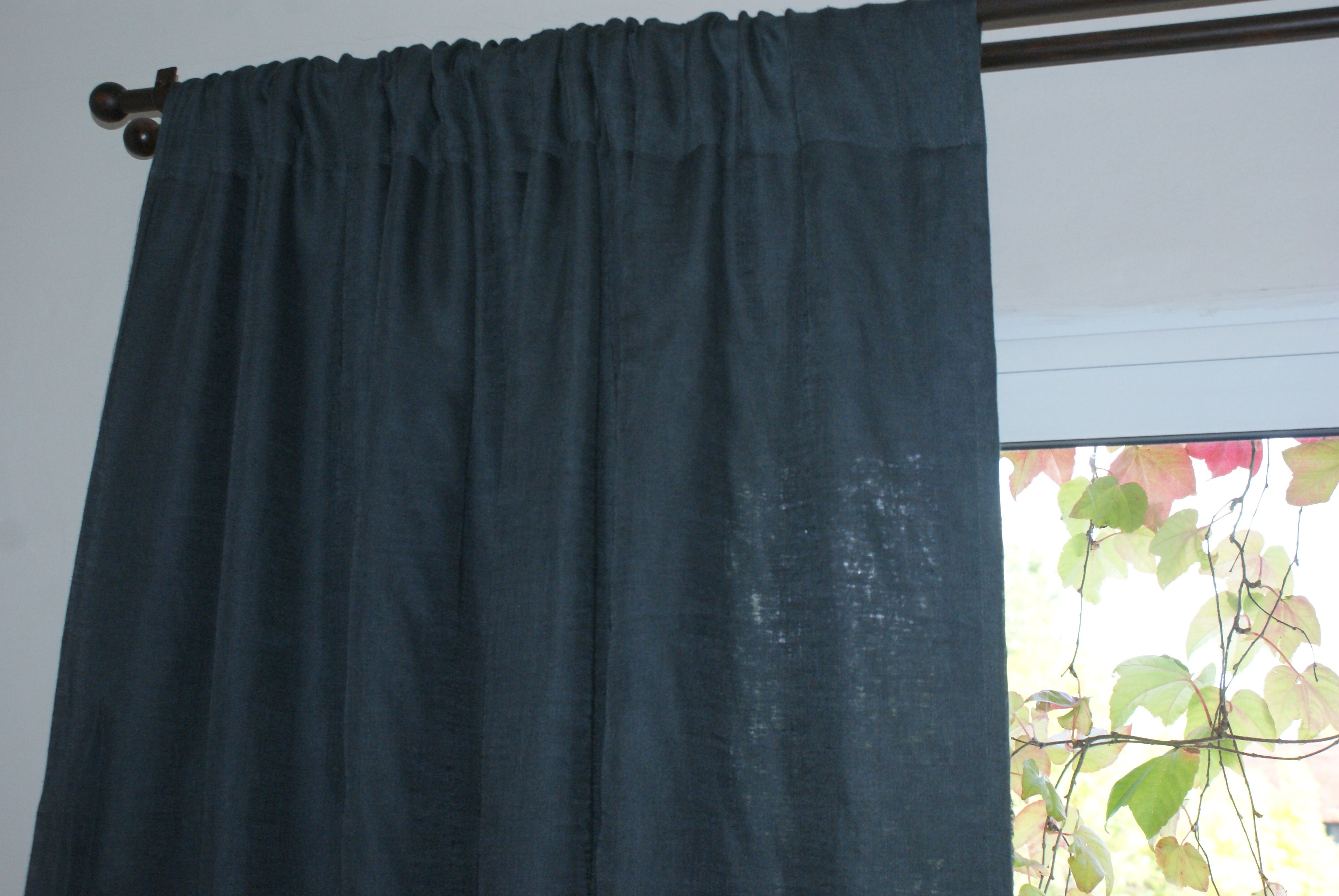 cortina de lino gris Romina Guerrero  my work  Curtains