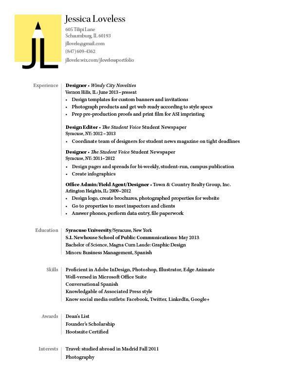 my resume by jessica loveless