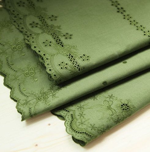 double side wide cotton eyelet lace 1yard width by cottonholic, $19.00
