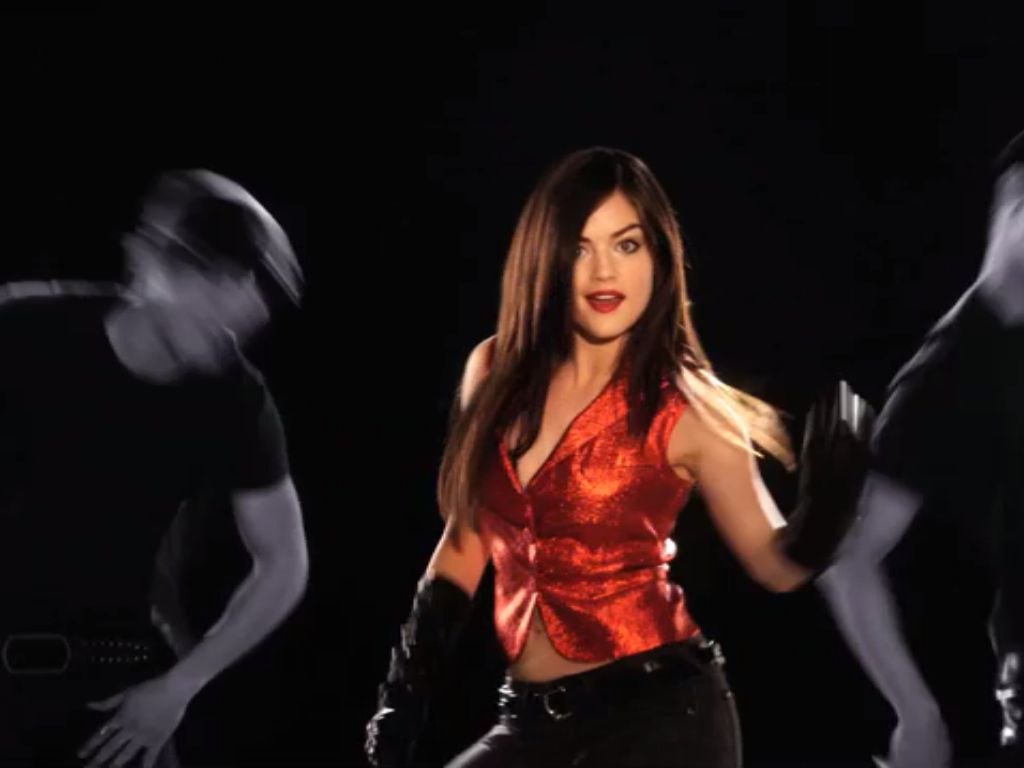 Lucy hale as katie gibbs in a cinderella story once upon