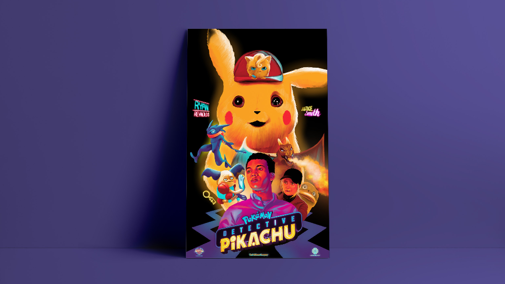 Pokemon Detective Pikachu Alternate Vector Movie Poster The Commas Pokemon Pokemonart Pikachu Dete Pokemon Alternative Movie Posters Pokemon Fan Art