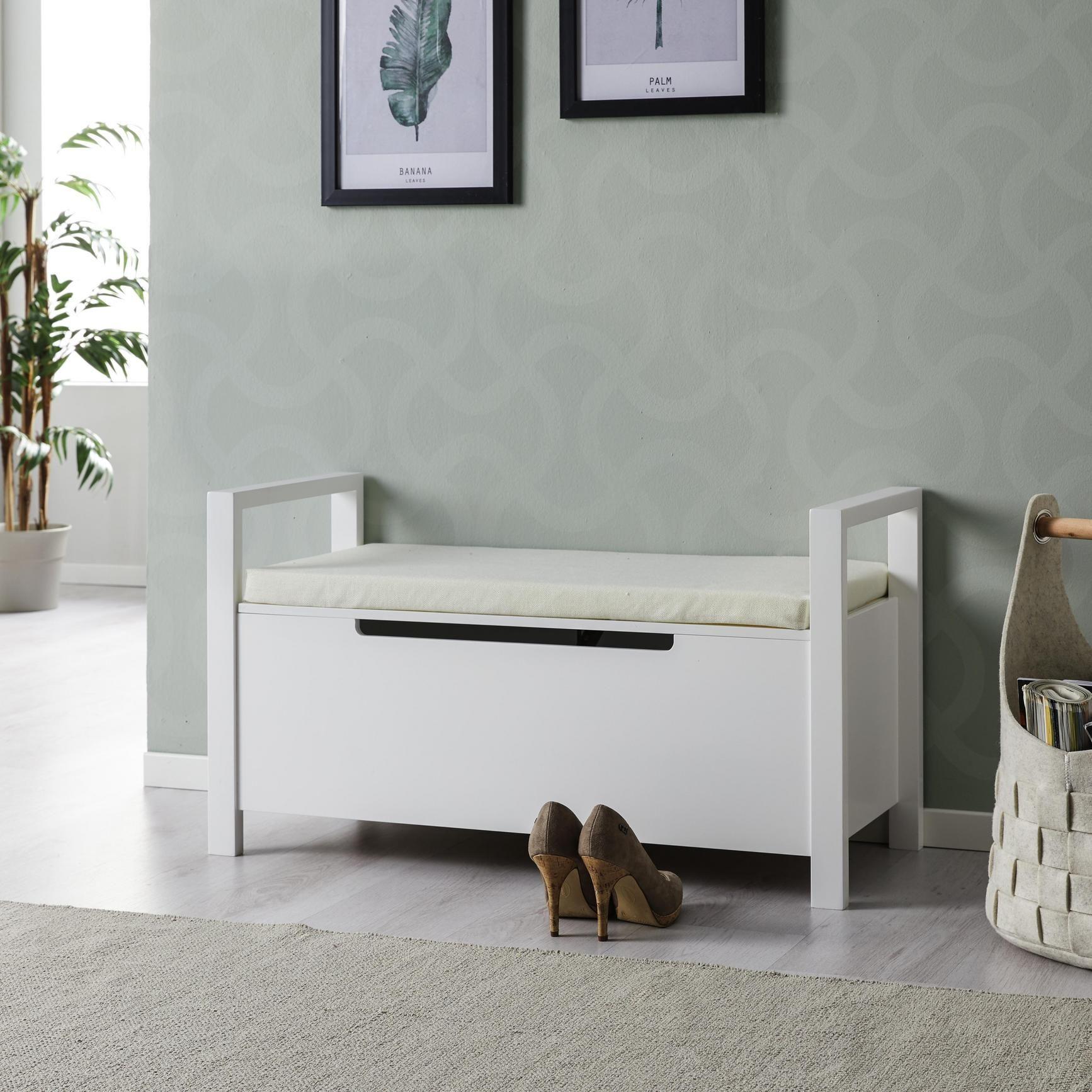 Garderobenbank Len Mit Stauraum Inkl Sitzkissen Online Kaufen Momax Storage Bench Bedroom Luxury Furniture Living Room Furniture