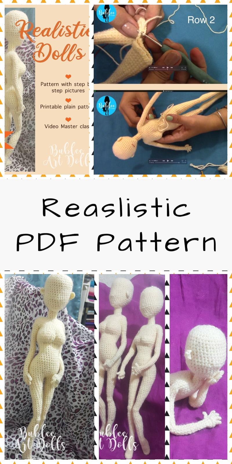Realistic Crochet Doll Pattern Basic Body - Stitch.Live #crochetdolls