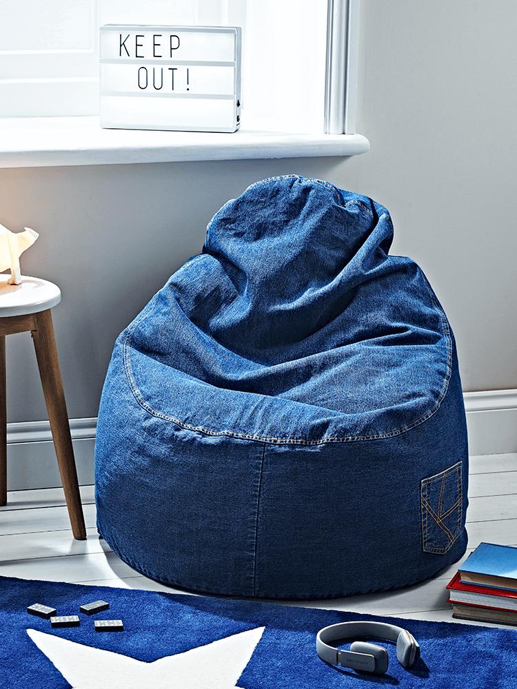 Denim Bean Chair Bag Chairs Outdoor Luxury Home
