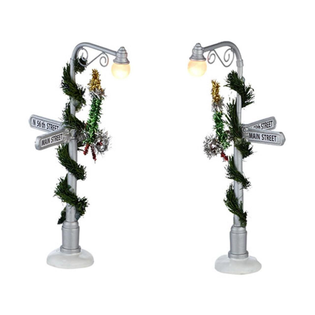 "Department 56 Snow Village ""Main Street Lamp Posts"" LED"