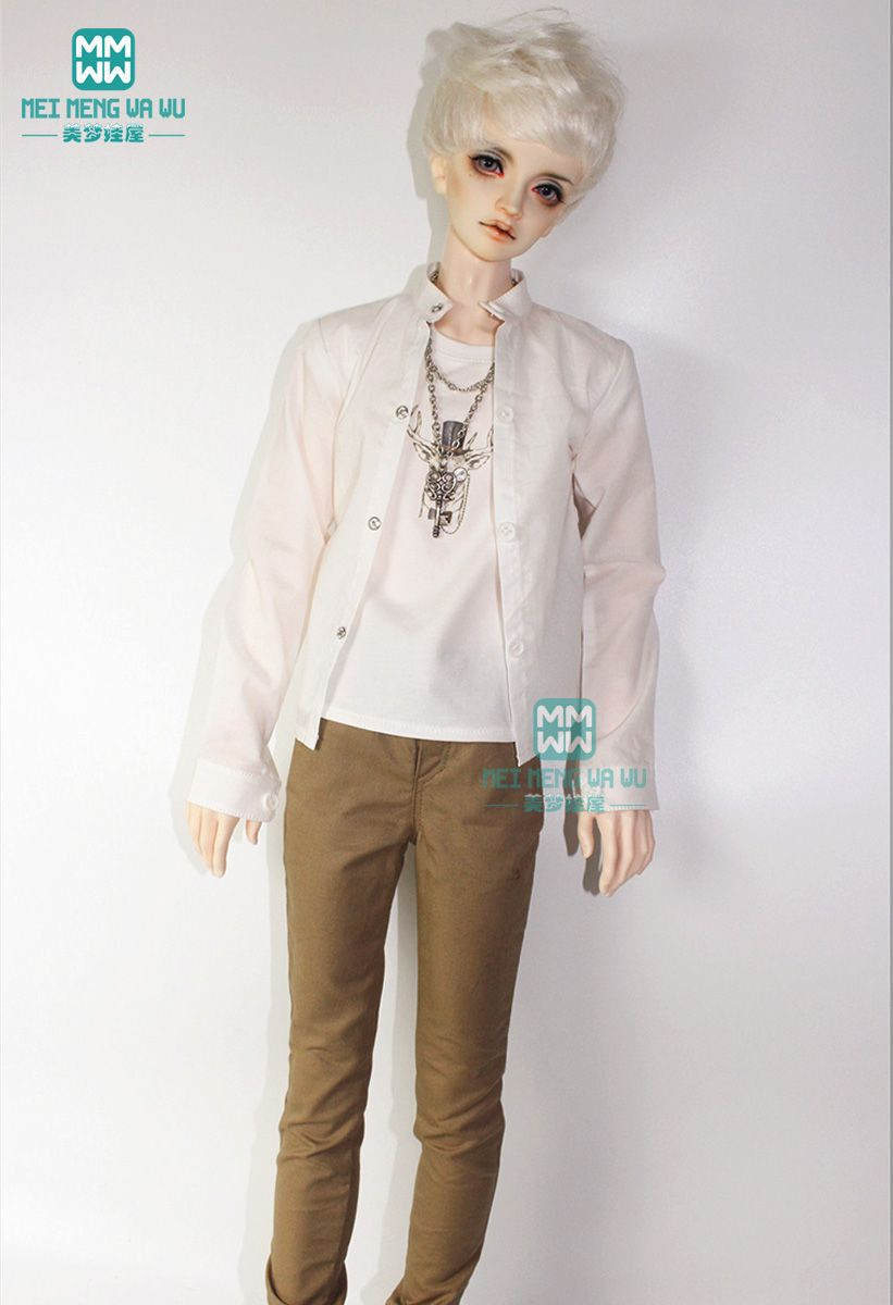 Fashion Clothes Plaided Shirt Top for 1//4 BJD Doll Clothes Casual Wear Clothes