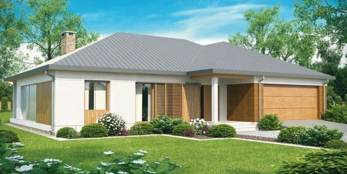 Plano de casa de 1 planta moderna con 3 dormitorios for Casa de una planta 3 dormitorios
