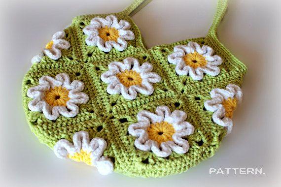 Crochet Pattern - Crochet 3D Flower Purse (Pattern No. 016 ...