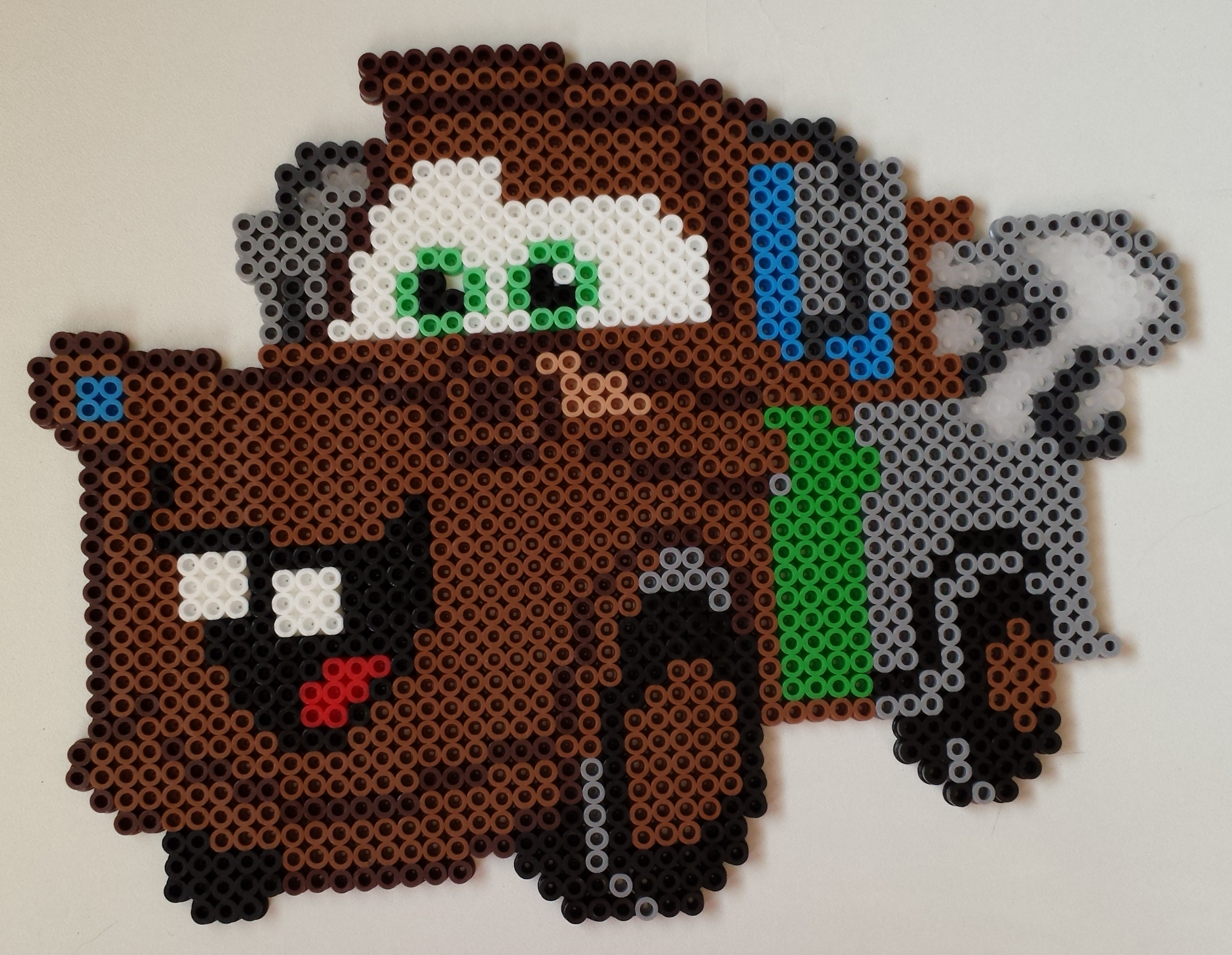 Mater from Cars done in perler beads.