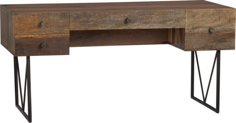 Atwood Reclaimed Wood Desk Reviews Crate And Barrel