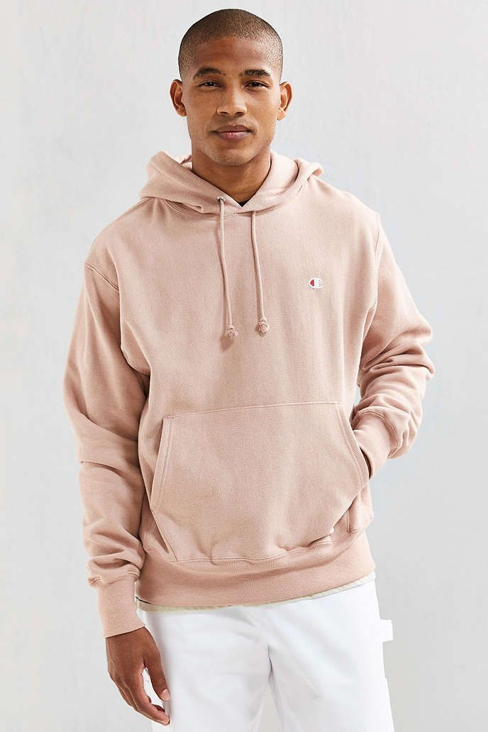 Champion Script Reverse Weave Hoodie Sweatshirt | Urban Outfitters ...
