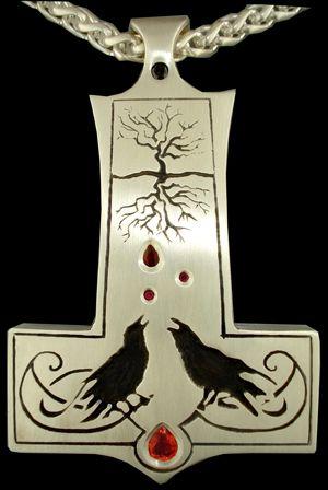 ? Mjölnir, Huginn & Muninn, Yggdrasil (Thor's Hammer)