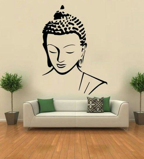 pin by ananya gogoi on character drawing buddha wall art on wall stickers painting id=60584