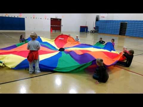 Parachute Game Sharks Lifeguards Youtube Pe