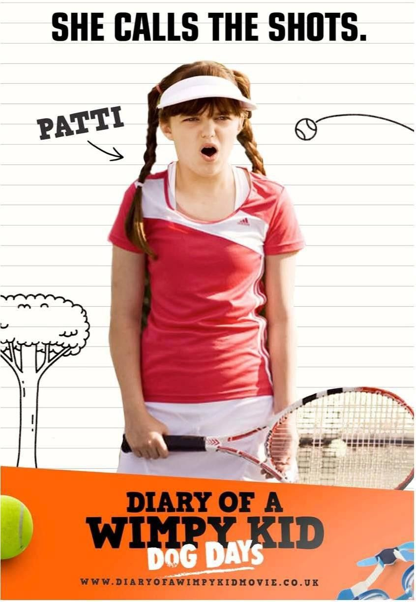 Patti In Diary Of A Wimpy Kid Dog Days 08 03 12 Wimpy Kid Wimpy Kid Movie Wimpy Kid Books