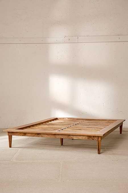 Amelia Platform Bed Wooden Platform Bed Bohemian Platform Bed