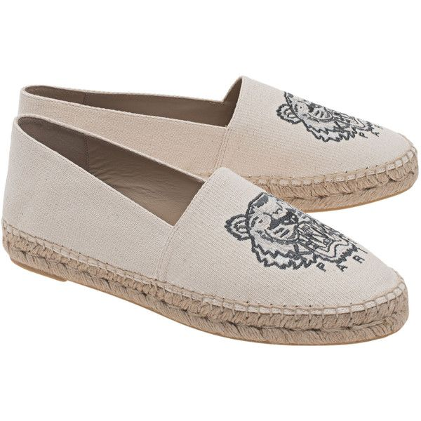 KENZO Espadrilles Tiger Beige // Espandrilles with tiger motif (9.835 RUB) via Polyvore featuring shoes, sandals, summer shoes, kenzo espadrilles, kenzo shoes, kenzo и espadrilles shoes