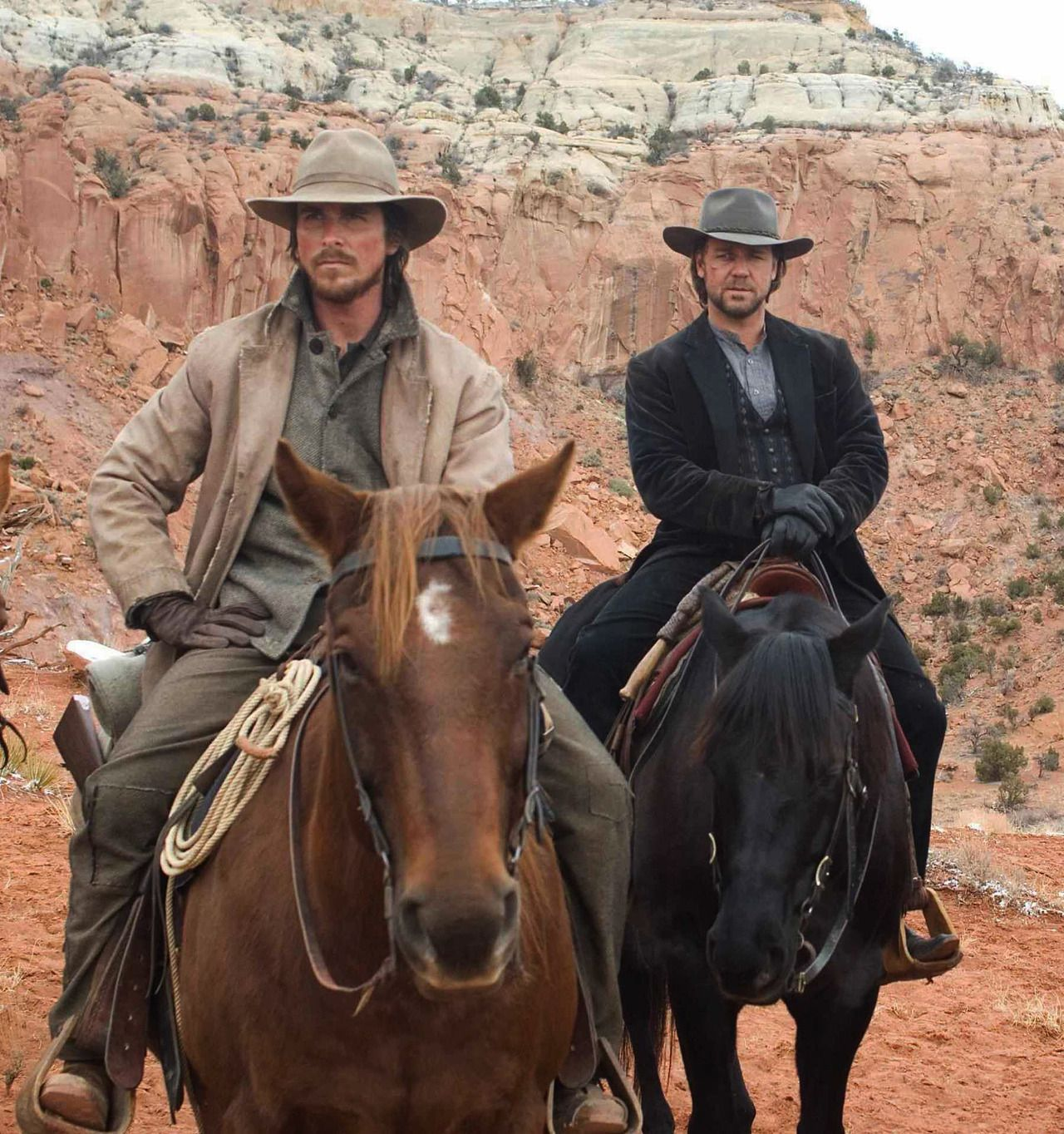 Christian Bale Russell Crowe In 3 10 To Yuma 3 10 To Yuma Yuma Western Movies