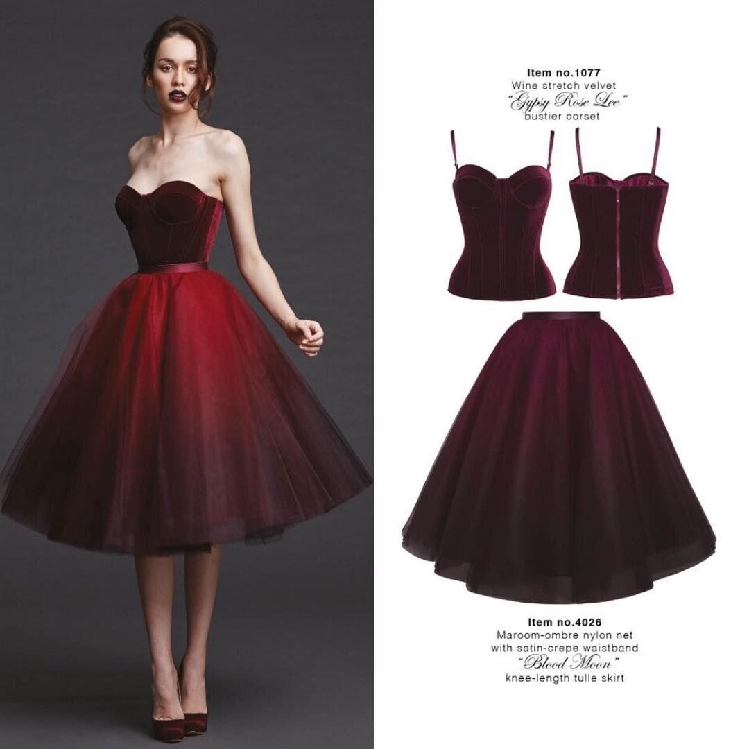 "POEM, Wine velvet ""Gypsy Rose Lee"" bustier corset Item no.4026 Maroon ombre ... 3"