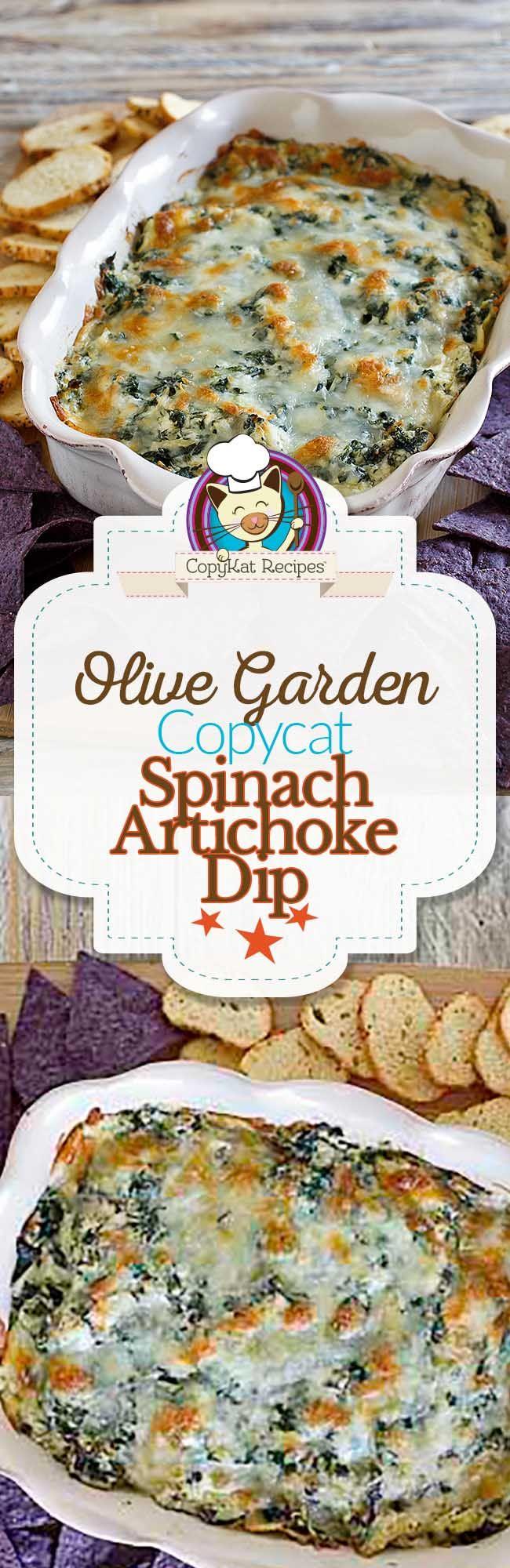 Copycat Olive Garden Spinach Artichoke Dip Recipe Copykat Recipes Recipes Copycat Recipes