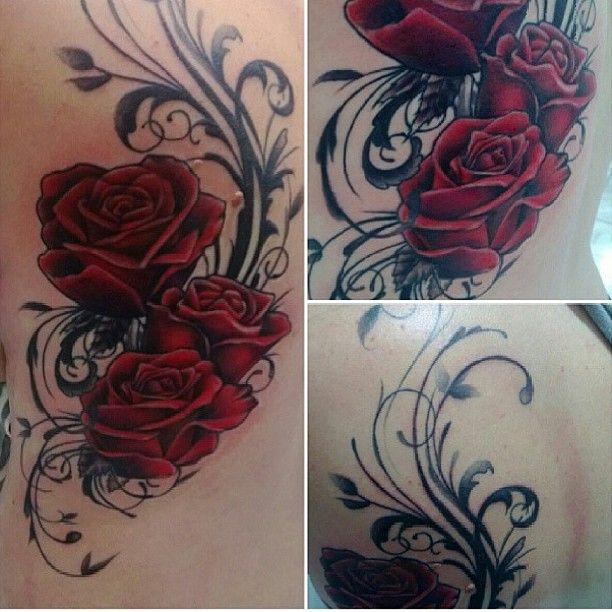 Roses And Filigree Swirls Filigree Tattoo Tattoos Inspirational Tattoos